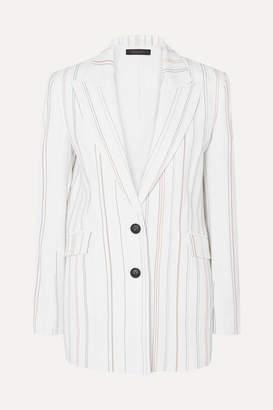 Roland Mouret Neyman Striped Cady Blazer - White