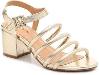 Women's Gladys Sandal -Gold Metallic Faux Leather $60 thestylecure.com