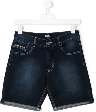 Karl Lagerfeld TEEN faded denim shorts