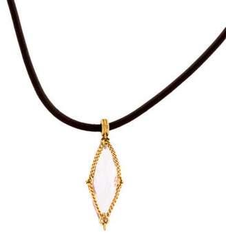 Anthony Nak 18K Amethyst Pendant Necklace
