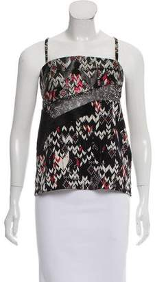 Prabal Gurung Sleeveless Contrast Top