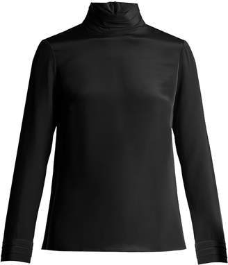 Goat Eve silk-crepe blouse