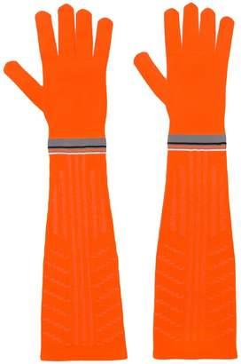 Prada logo knit gloves