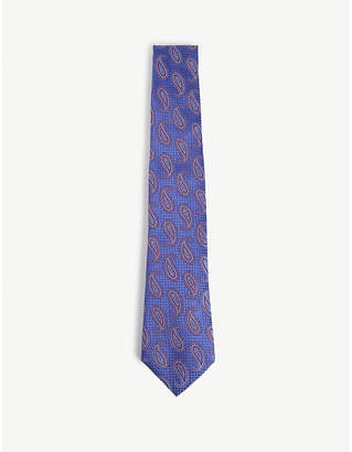 Canali Large paisley silk tie