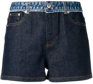 A.P.C. mid rise panelled denim shorts