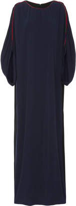 Tory Burch Contrast-Stitched Jersey Maxi Dress