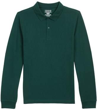 Izod Uniform Men's Long Sleeve Pique Polo