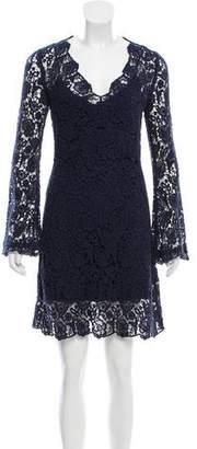 Diane von Furstenberg Long Sleeve Crochet Dress