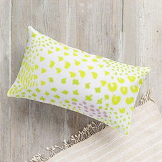 spring meadow Lumbar Pillow