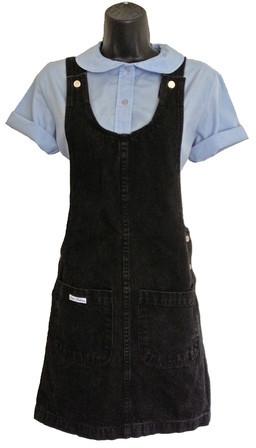 Wiseling Black Denim Overall Dress