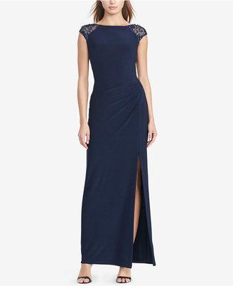 Lauren Ralph Lauren Sequined V-Back Gown $195 thestylecure.com