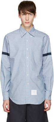 Thom Browne Blue Check Grosgrain Classic Shirt $480 thestylecure.com