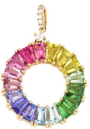 Kiki McDonough 18K Multistone Rainbow Pendant