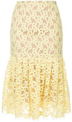 Ginger & Smart Link embroidered tulle skirt