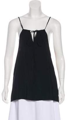 Mason Leather-Paneled Sleeveless Top