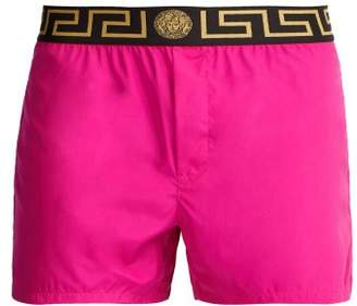 Versace Medusa Logo Jacquard Swim Shorts - Mens - Pink