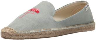 Soludos Women's Flamingo Embroidered Smoking Slipper