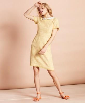 Brooks Brothers Peter-Pan-Collar Boucle Dress