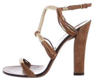 Gucci Suede Ankle Strap Sandals
