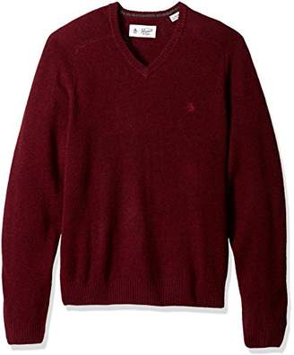 Original Penguin Men's P55 100% Lambswool V-Neck Sweater