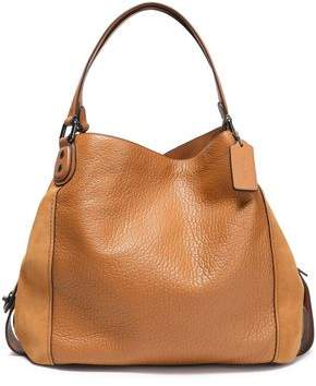 Coach Paneled Leather And Suede Tote