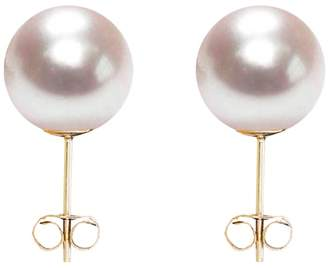 ORA Pearls - Small White Pearl Stud Earrings 9ct Gold