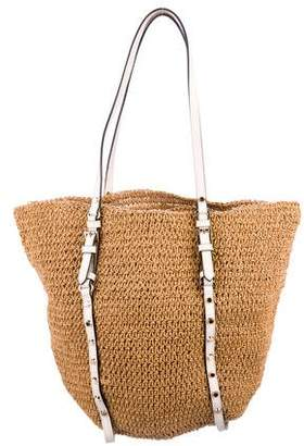 8b8c3e9999 Pre-Owned at TheRealReal · MICHAEL Michael Kors Studded Straw Tote