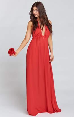 Show Me Your Mumu Luna Halter Dress ~ Lady In Red Crisp