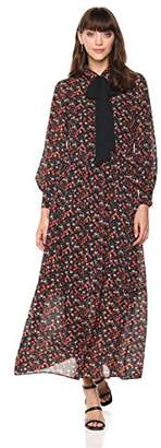 Ella Moon Women's Andi Floral Dress with Tie Neck