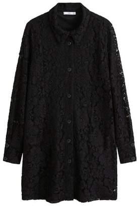 MANGO Lace short dress