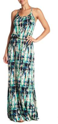 Loveappella Abstract Drawstring Maxi Dress