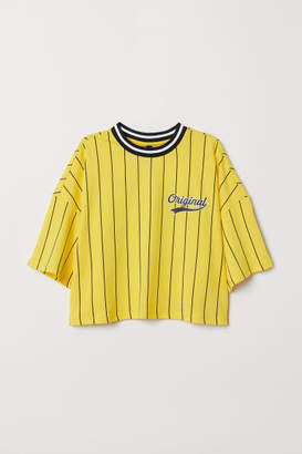 H&M Wide-cut T-shirt - Yellow