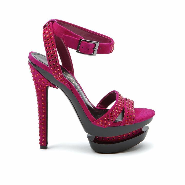 Jessica Simpson Celin Bermuda Pink Kidsuede High Heels