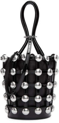 Alexander Wang Black Mini Patent Roxy Cage Bucket Bag