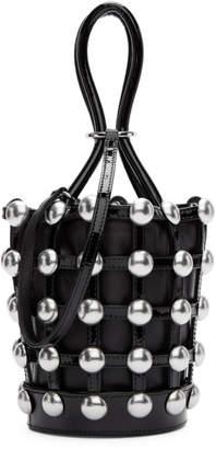 Alexander Wang Black Mini Patent Roxy Cage Bucket Bag