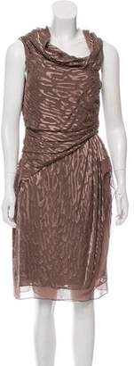 J. Mendel Fil-Coupe One-Shoulder Dress