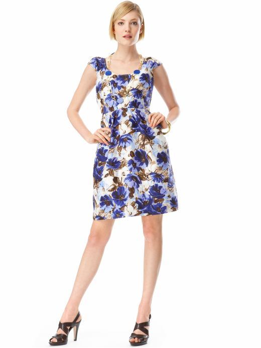Floral-print lady dress