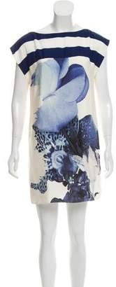 Tibi Silk Printed Mini Dress