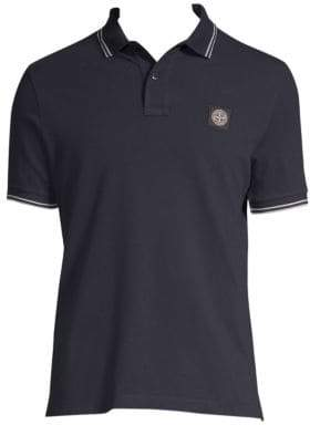 Stone Island Stretch Cotton Polo Shirt