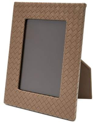 Bottega Veneta Intrecciato Leather Photo Frame - Beige