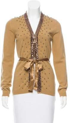 Valentino Embellished Wool Cardigan w/ Tags
