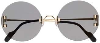 Cartier oversized round sunglasses