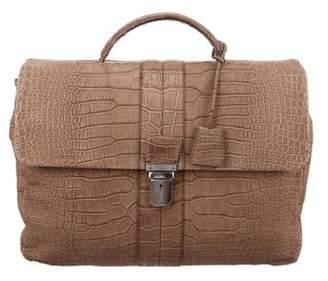 Tod's Soft Alligator Briefcase