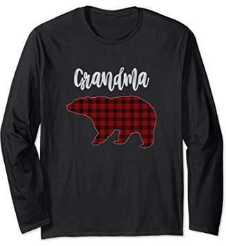 Buffalo David Bitton Plaid Bear Long Sleeve T-Shirt for Grandma