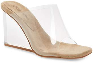 Jeffrey Campbell Clear Wedge Mule