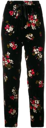 Forte Forte floral velvet cropped trousers