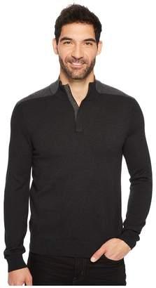 Perry Ellis Color Block Quarter Zip Sweater Men's Sweater