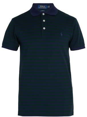 Polo Ralph Lauren Slim Fit Cotton Polo Shirt - Mens - Green Multi