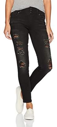YMI Jeanswear Women's Wannabettabutt Triple Button Midrise Skinny