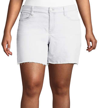 Boutique + + 6 Regular Fit Denim Shorts - Plus